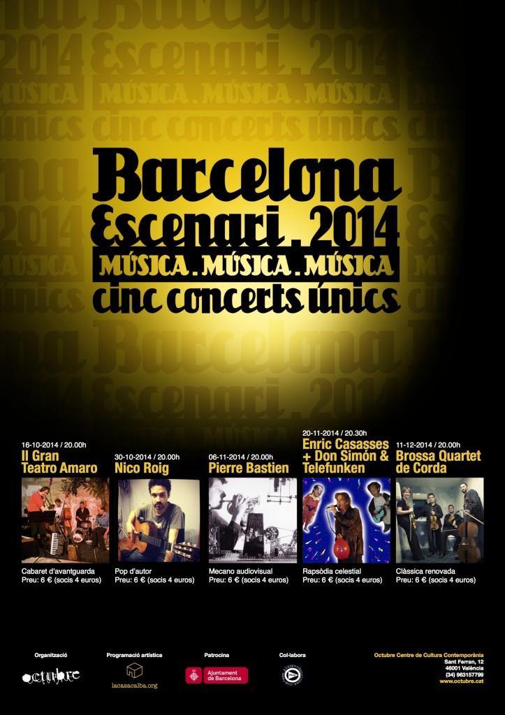 cartell musica 3a BCN Escenari