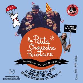 Presentació del disc a València: La Petita Orquestra Peiotaire, Vol 2